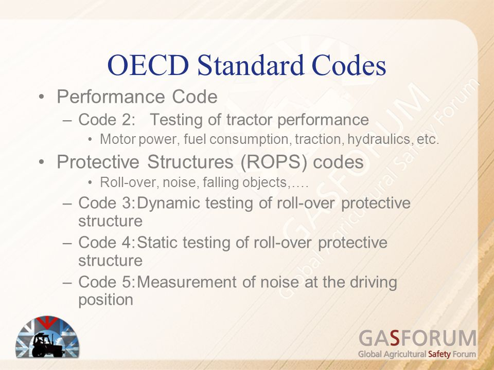 OECD Standard Codes Performance Code