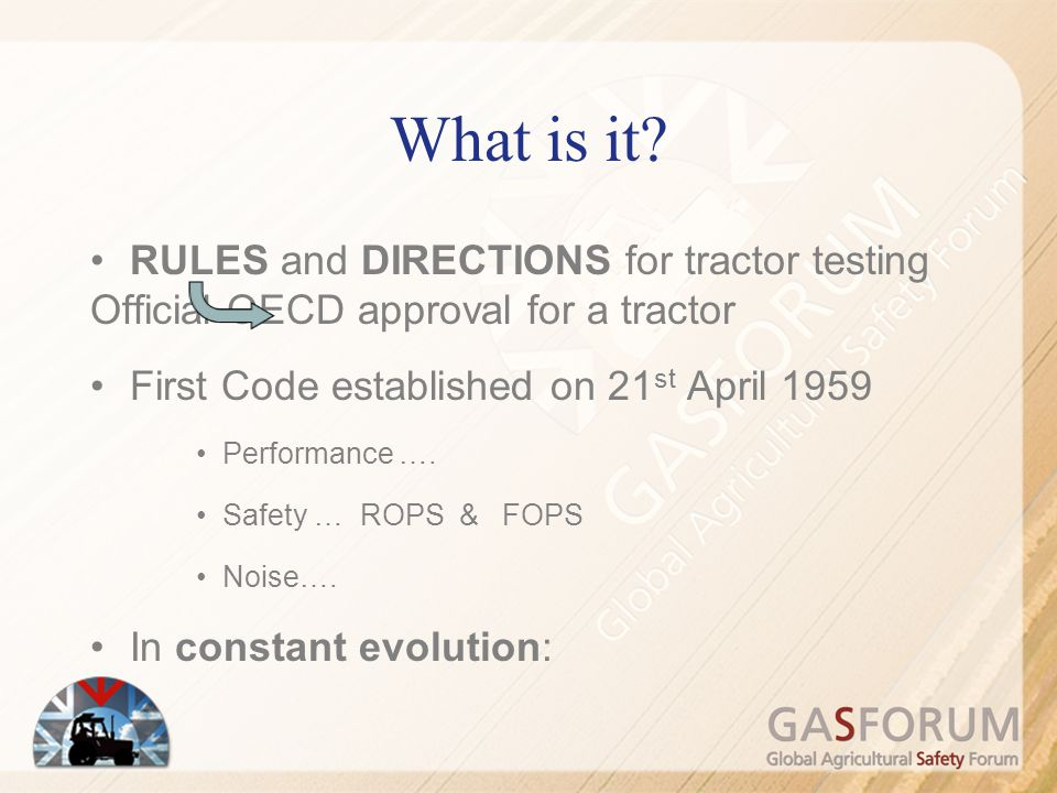 What is it RULES and DIRECTIONS for tractor testing