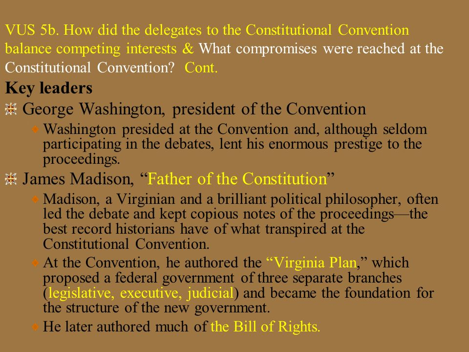 George Washington, president of the Convention