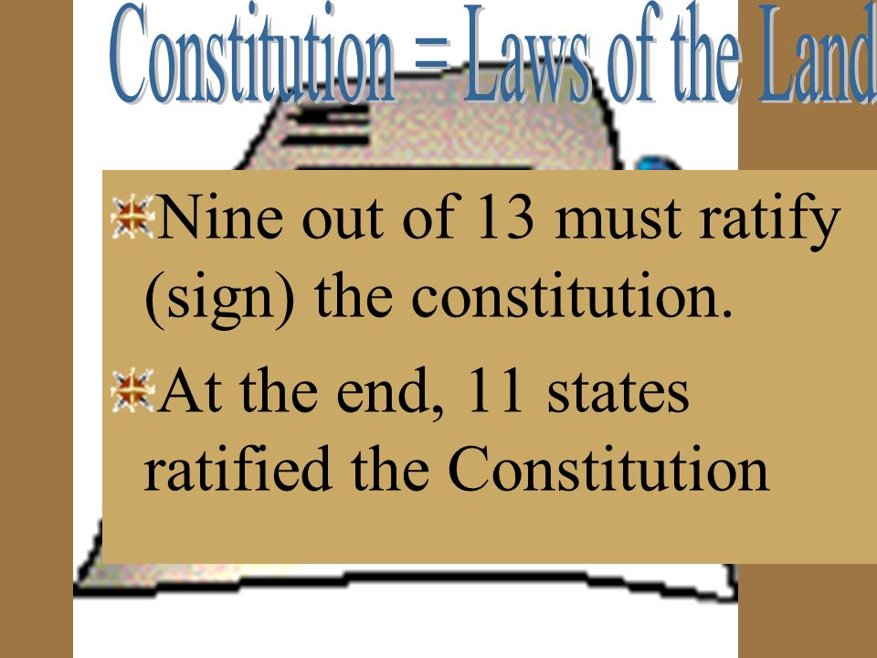 Constitution = Laws of the Land
