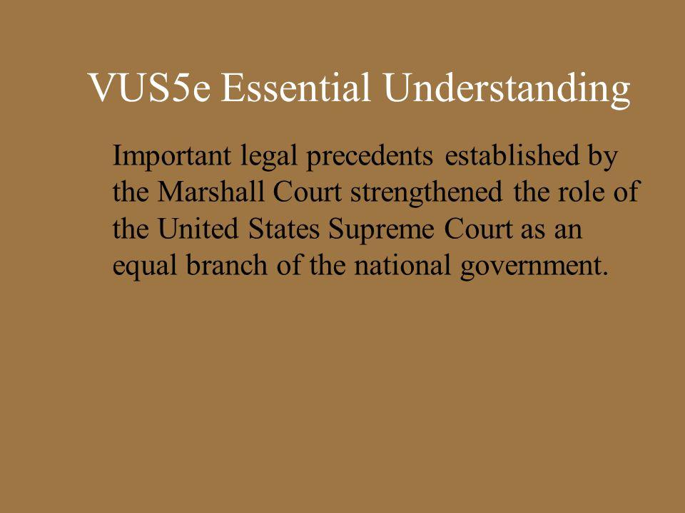VUS5e Essential Understanding
