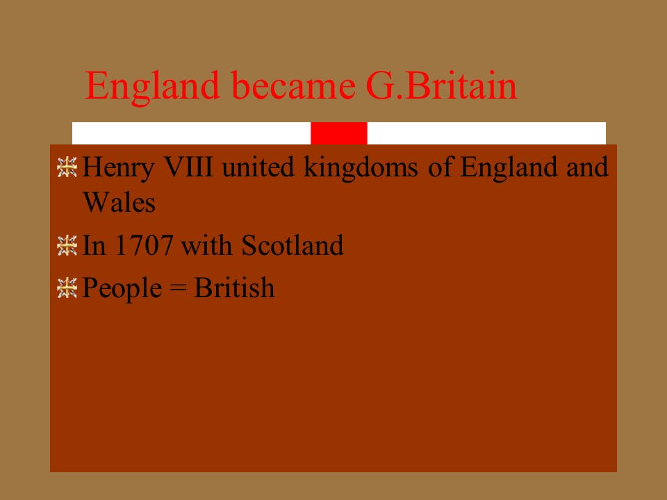 England became G.Britain