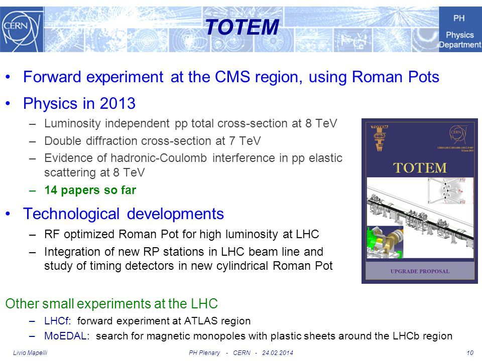 TOTEM Forward experiment at the CMS region, using Roman Pots