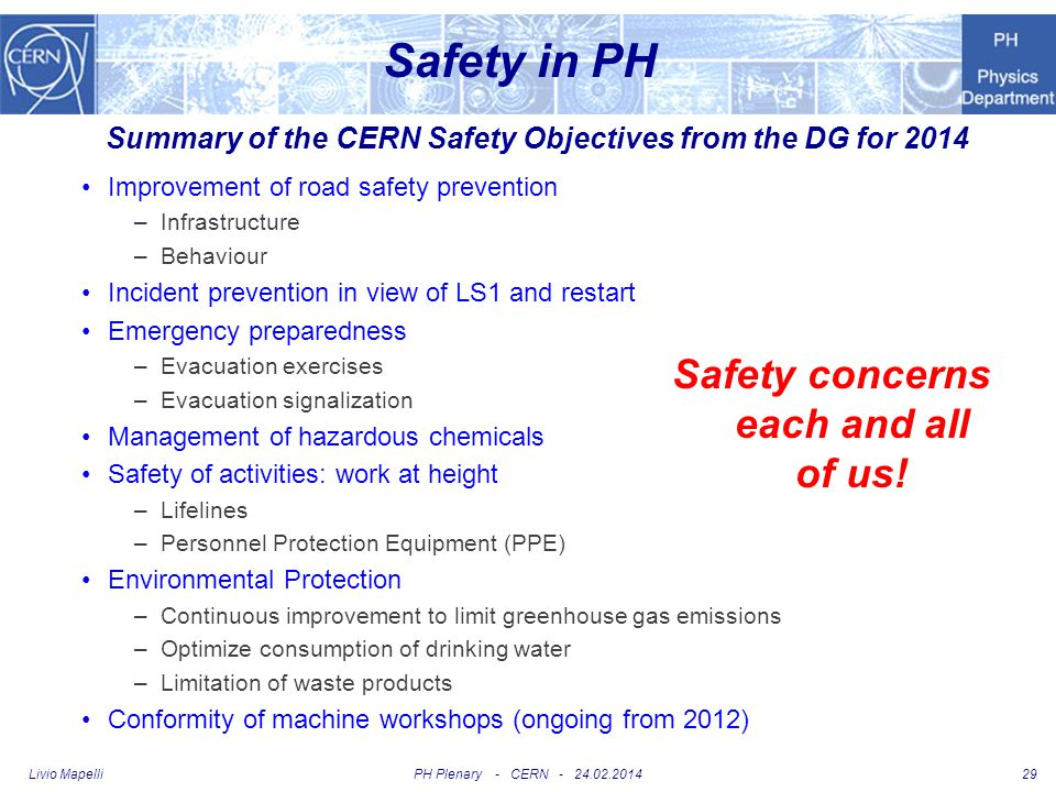 Safety in PH Safety concerns each and all of us!