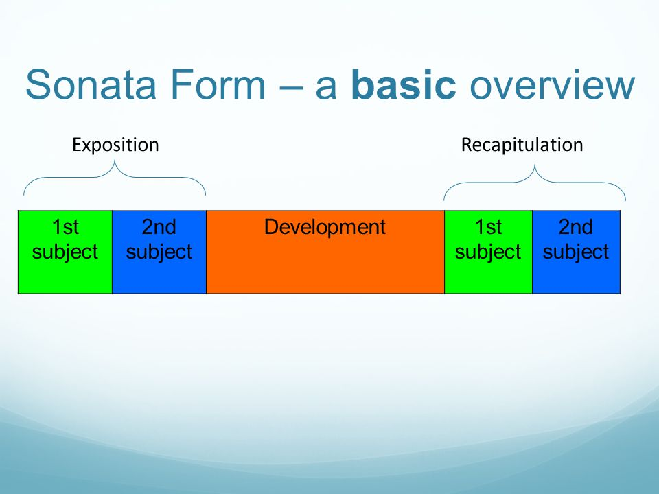 Sonata Form – a basic overview