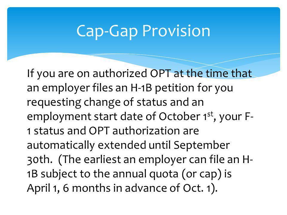 Cap-Gap Provision