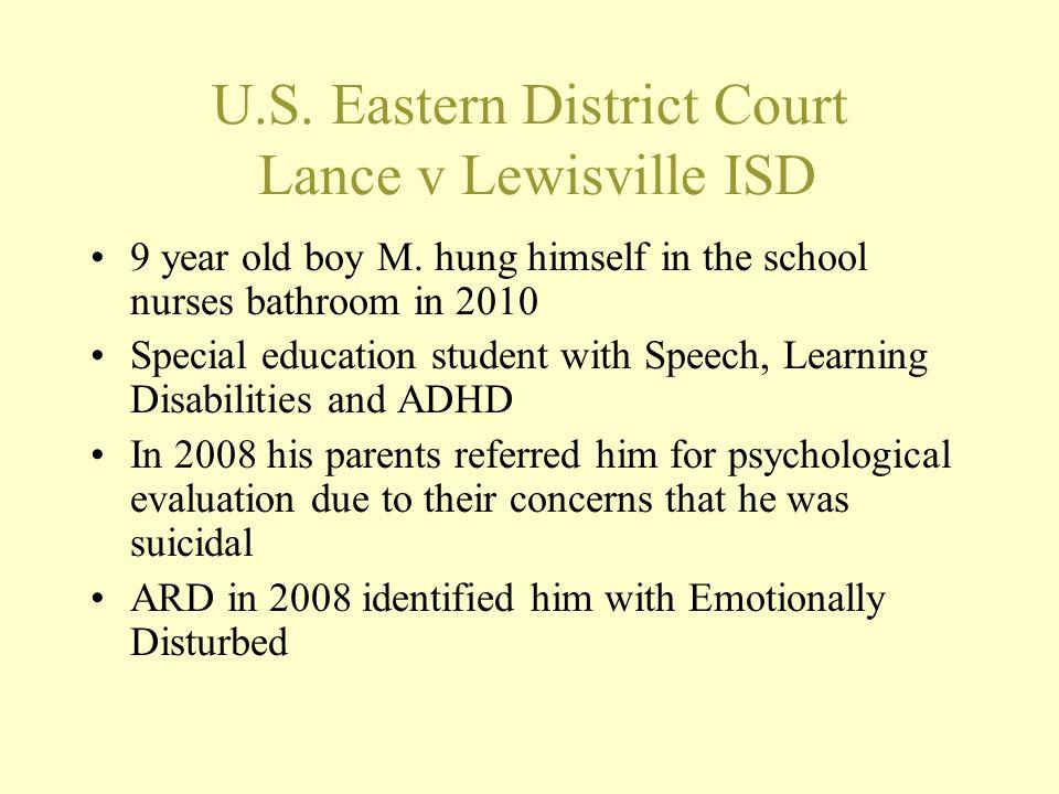 U.S. Eastern District Court Lance v Lewisville ISD