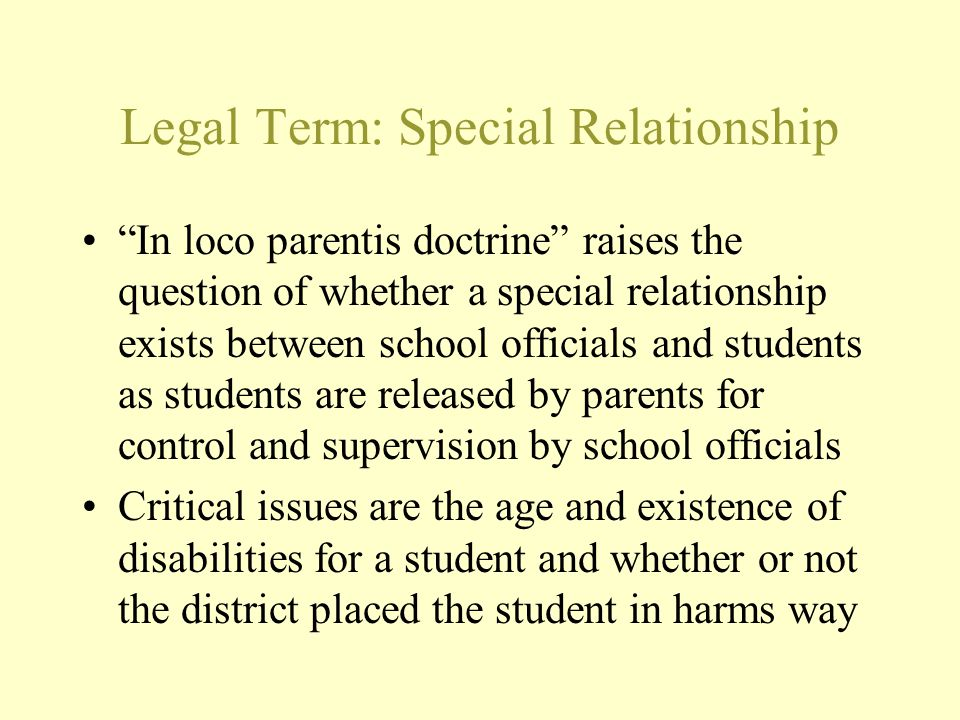Legal Term: Special Relationship
