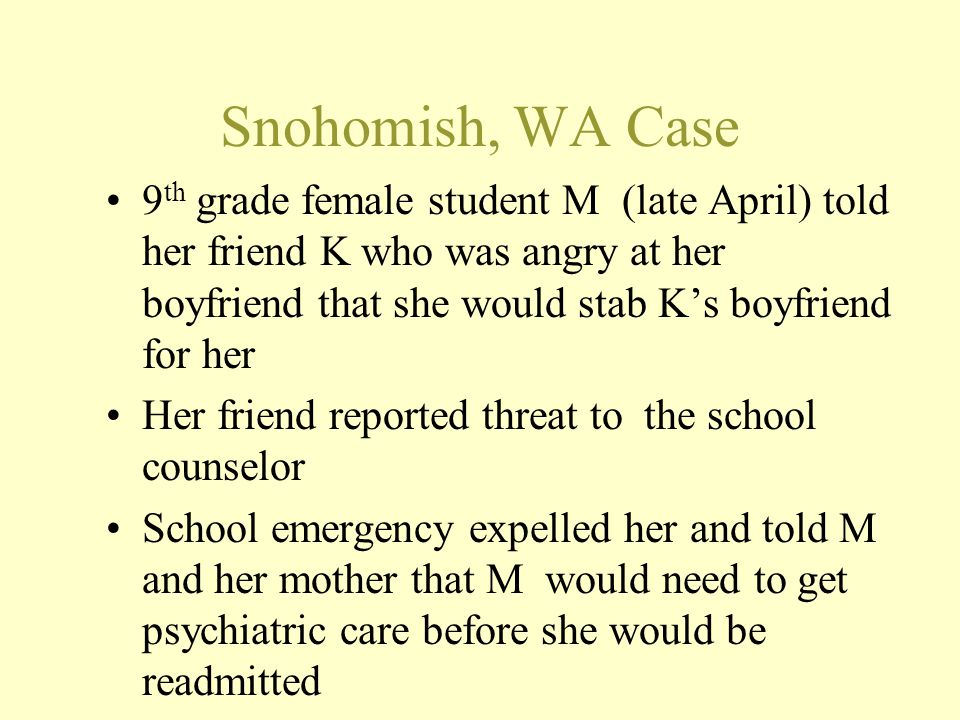 Snohomish, WA Case