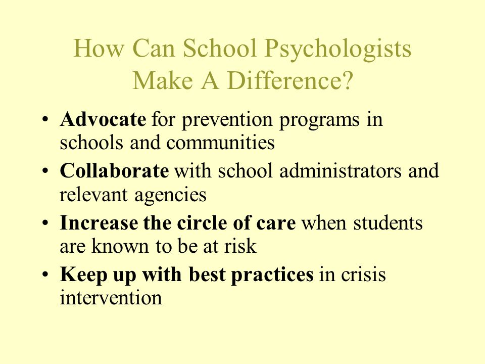 How Can School Psychologists Make A Difference