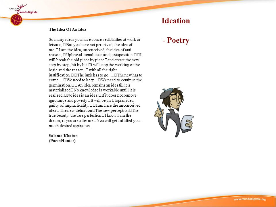Ideation - Poetry The Idea Of An Idea