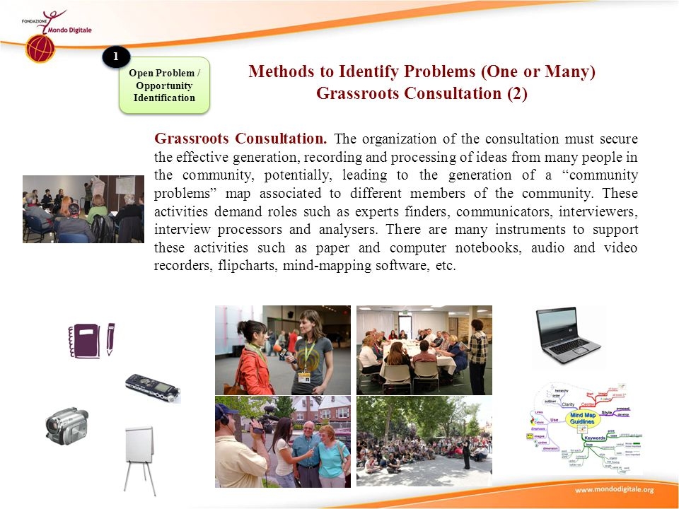 Methods to Identify Problems (One or Many) Grassroots Consultation (2)