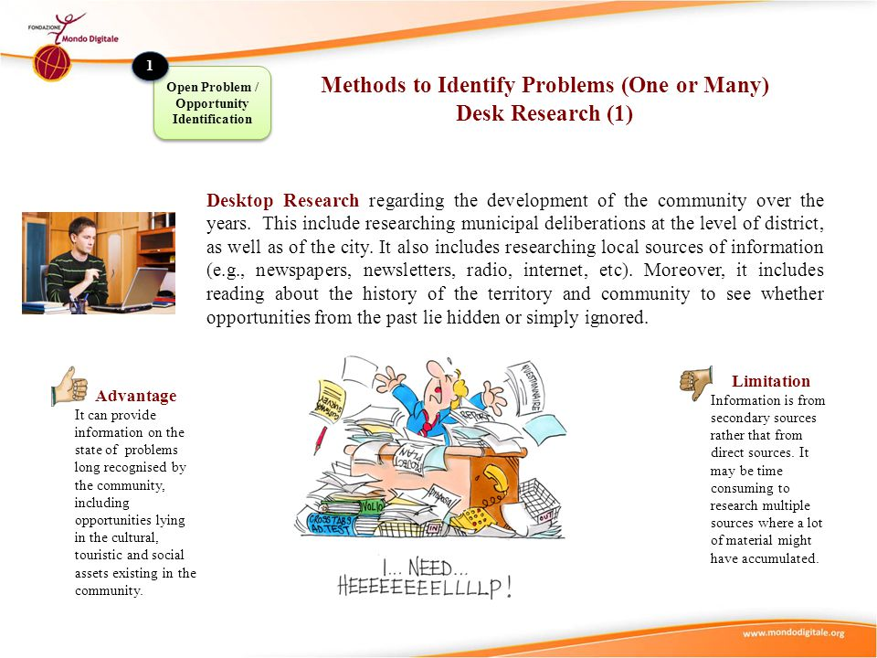 Methods to Identify Problems (One or Many) Desk Research (1)
