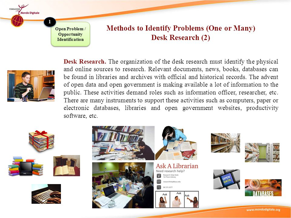 Methods to Identify Problems (One or Many) Desk Research (2)