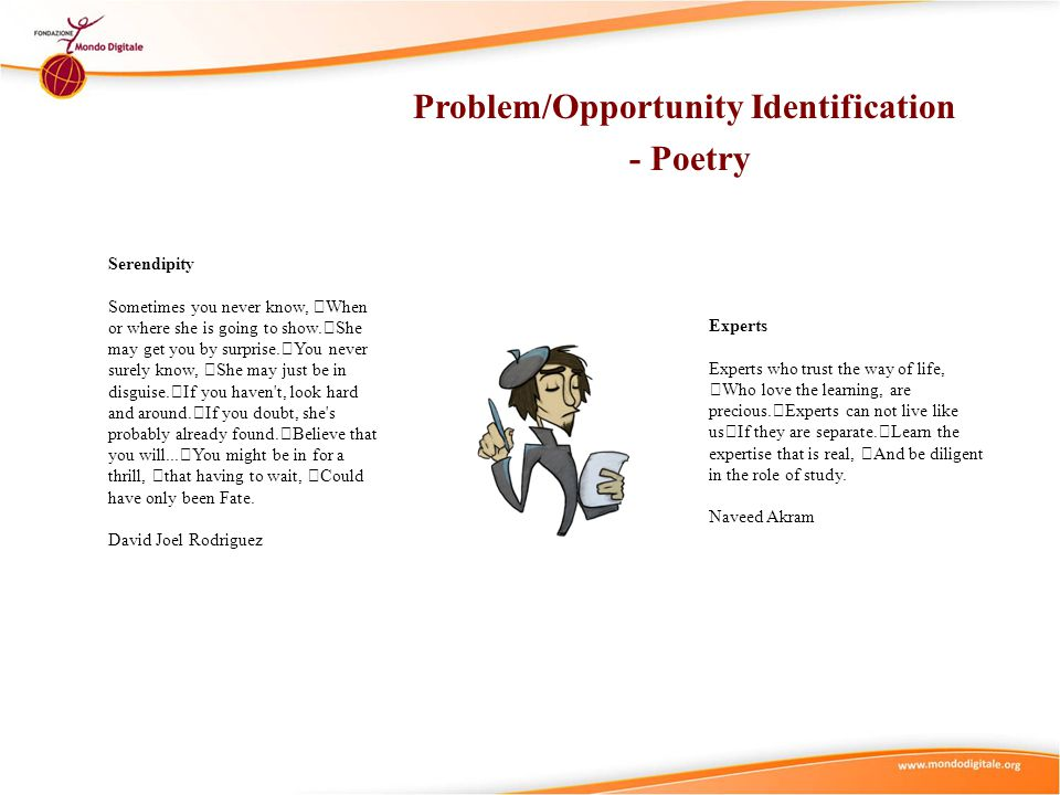 Problem/Opportunity Identification - Poetry