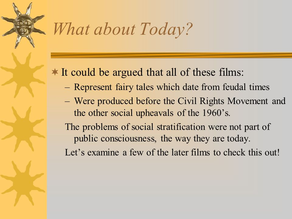 What about Today It could be argued that all of these films:
