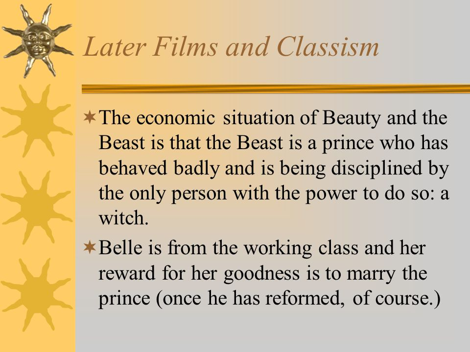 Later Films and Classism