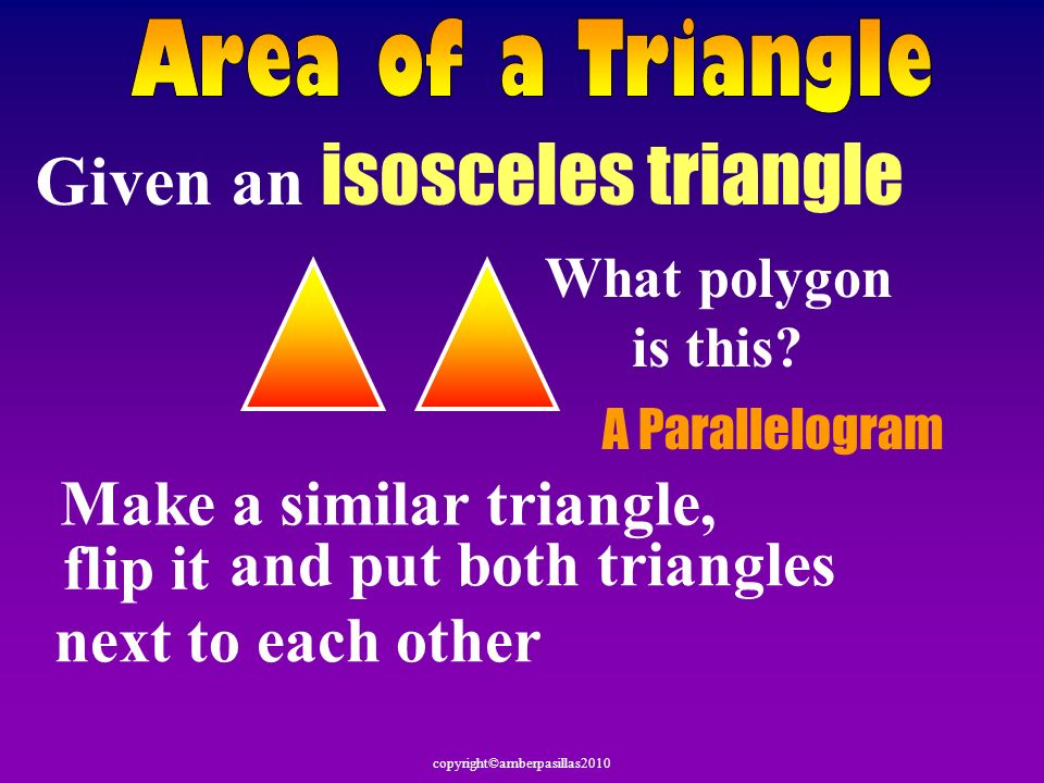 Given an isosceles triangle