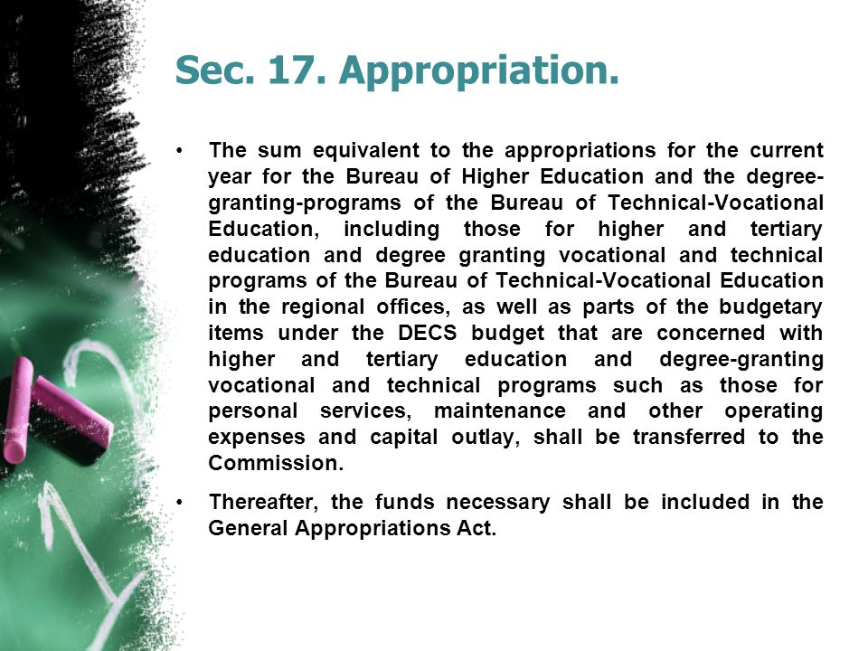 Sec. 17. Appropriation.