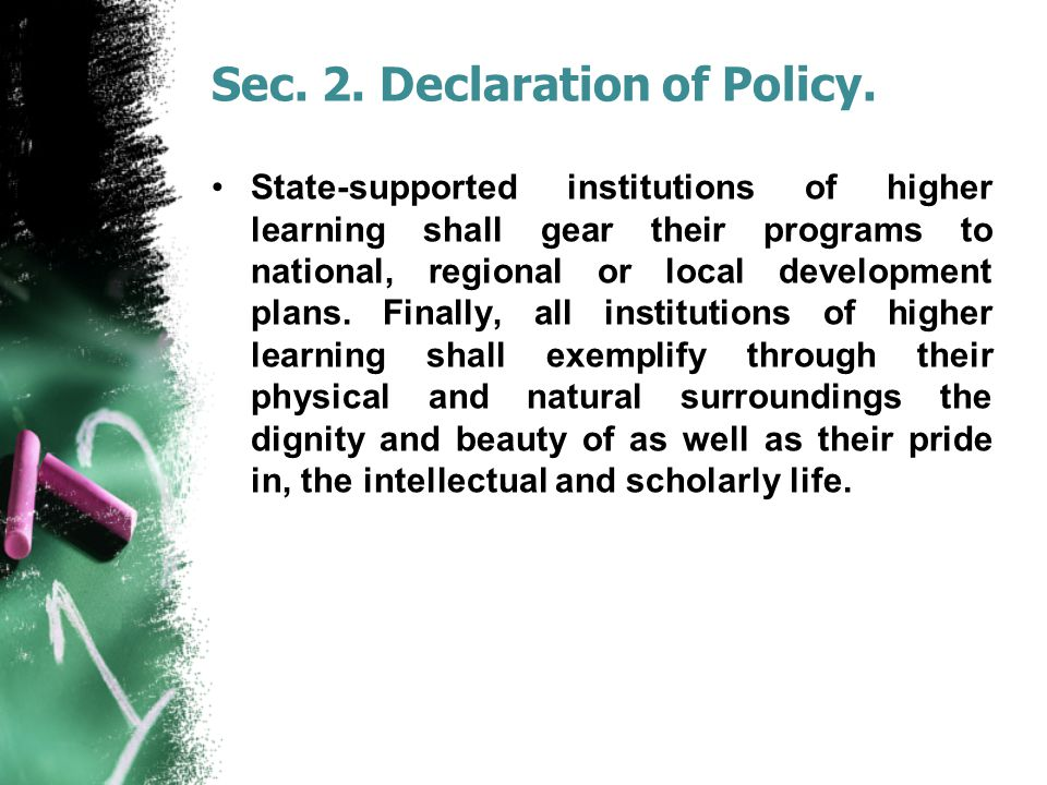 Sec. 2. Declaration of Policy.