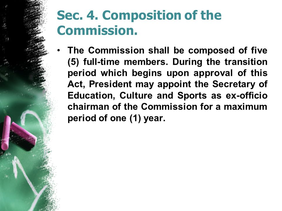 Sec. 4. Composition of the Commission.