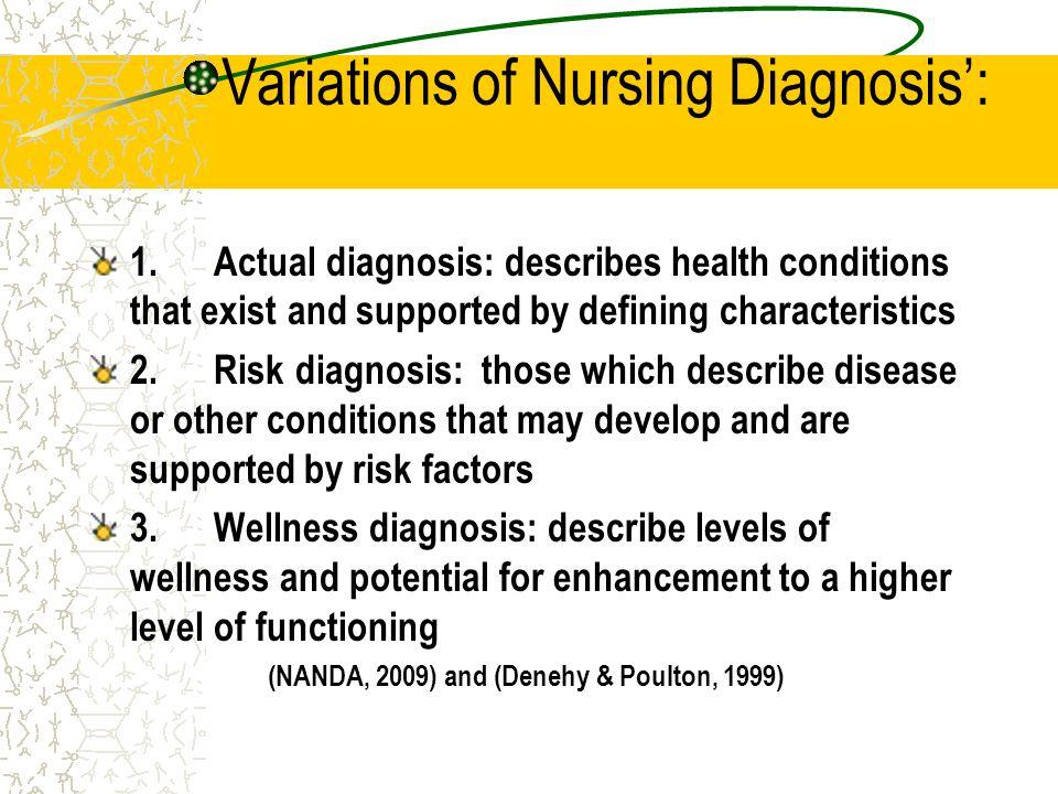 Variations of Nursing Diagnosis':