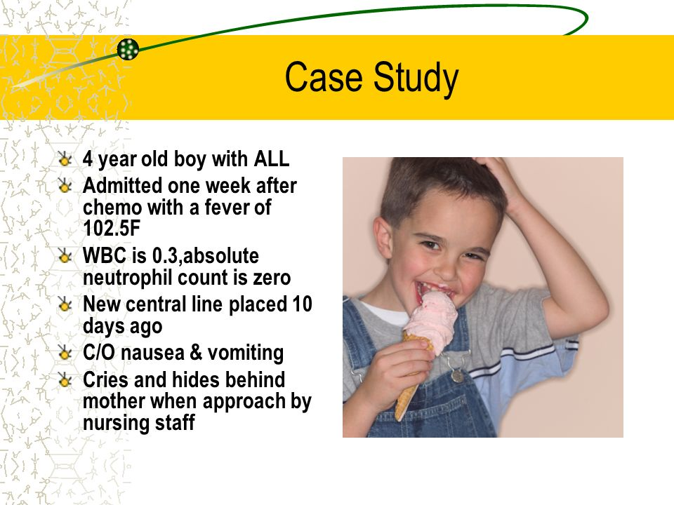 Case Study 4 year old boy with ALL