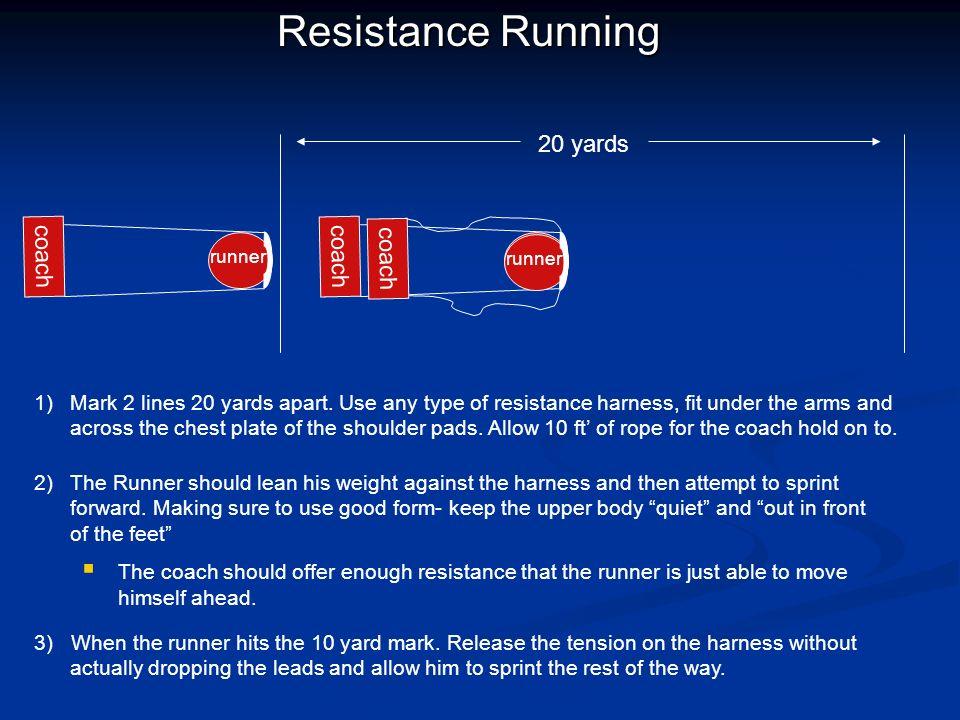 Resistance Running 20 yards coach coach coach