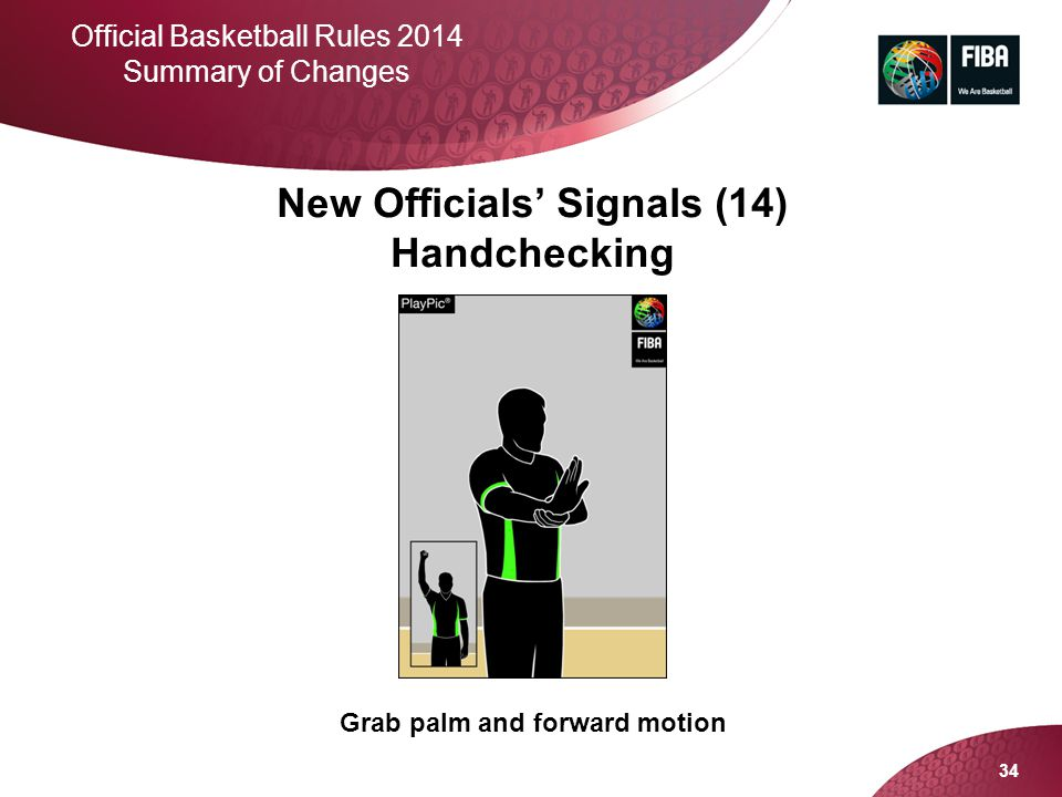 Grab palm and forward motion