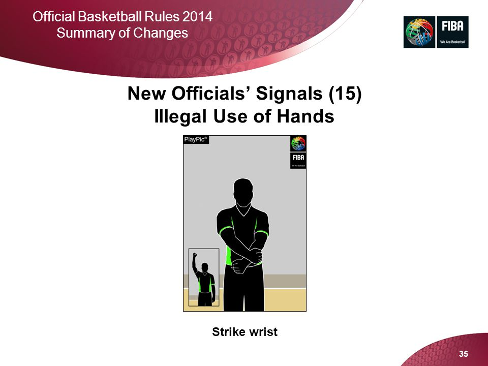 New Officials' Signals (15) Illegal Use of Hands
