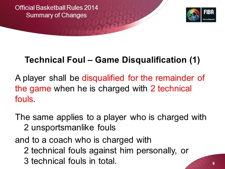 Technical Foul – Game Disqualification (1)