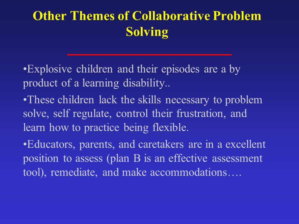 Other Themes of Collaborative Problem Solving