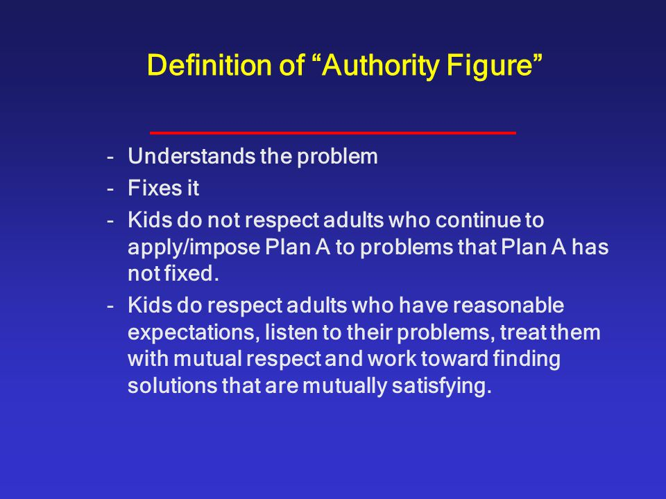 Definition of Authority Figure