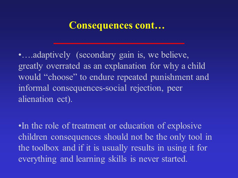 Consequences cont…