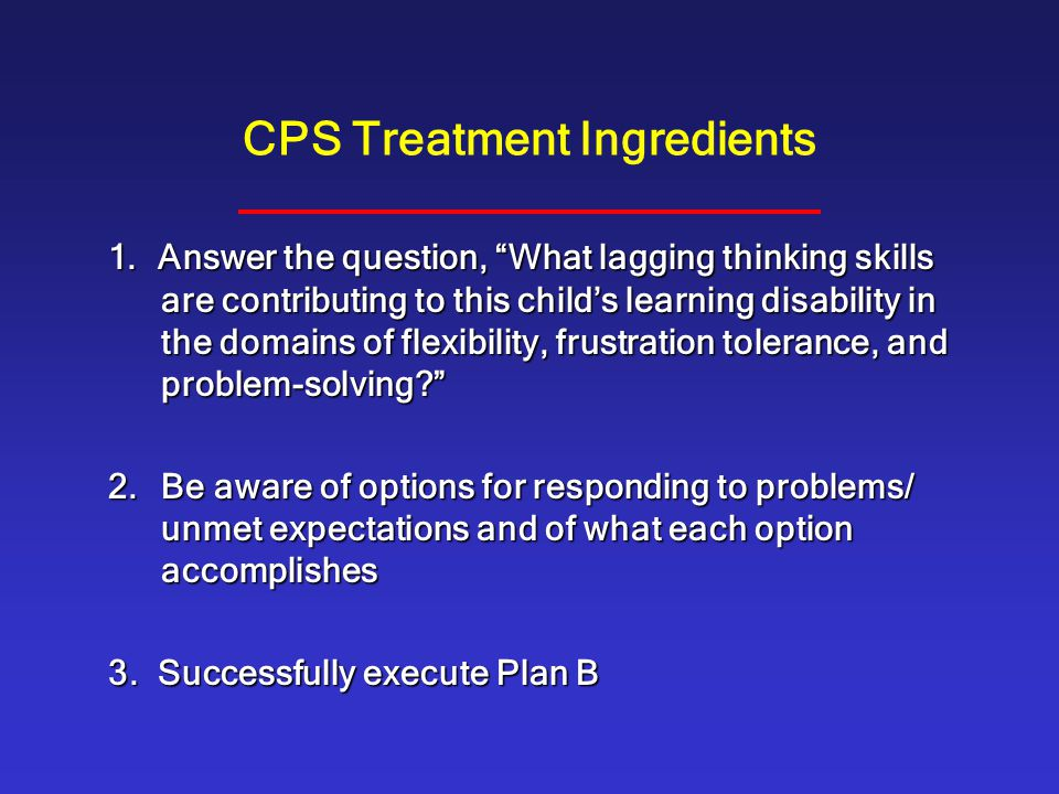 CPS Treatment Ingredients