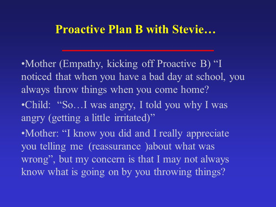 Proactive Plan B with Stevie…