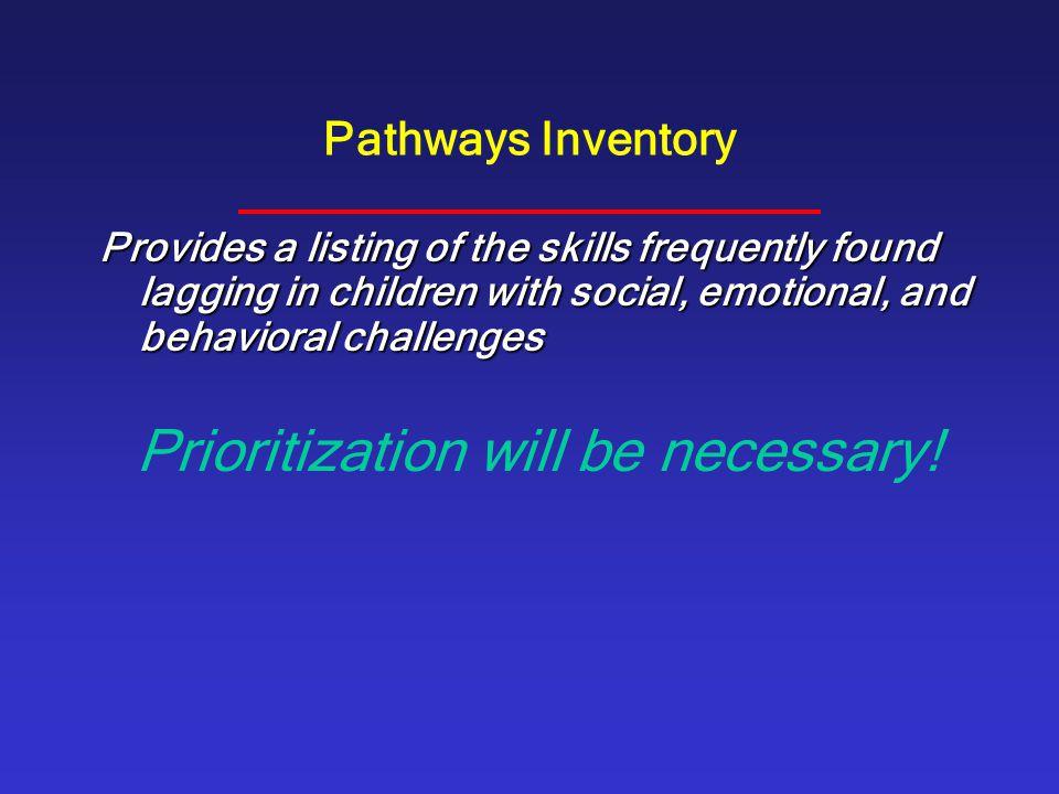 Prioritization will be necessary!