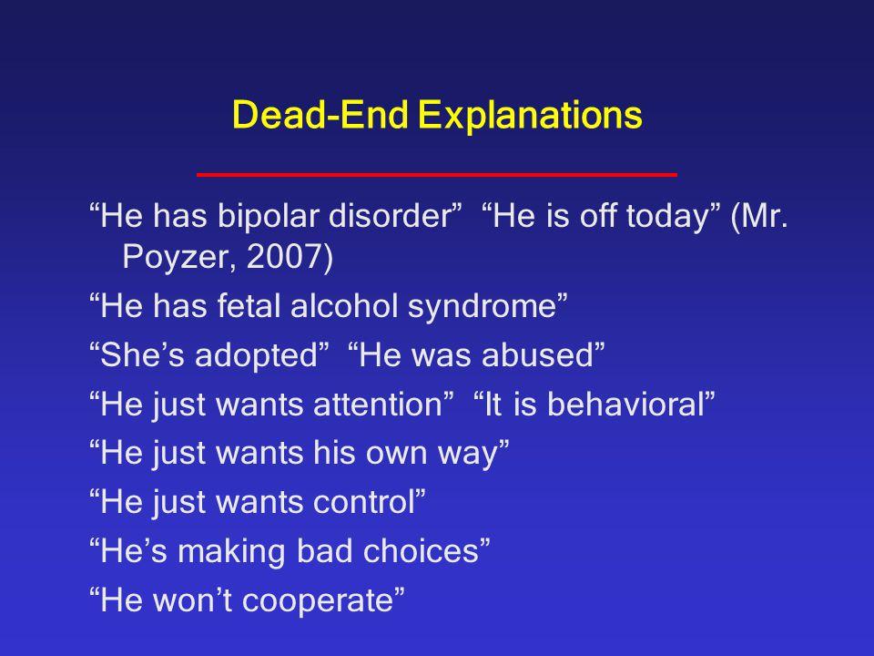 Dead-End Explanations