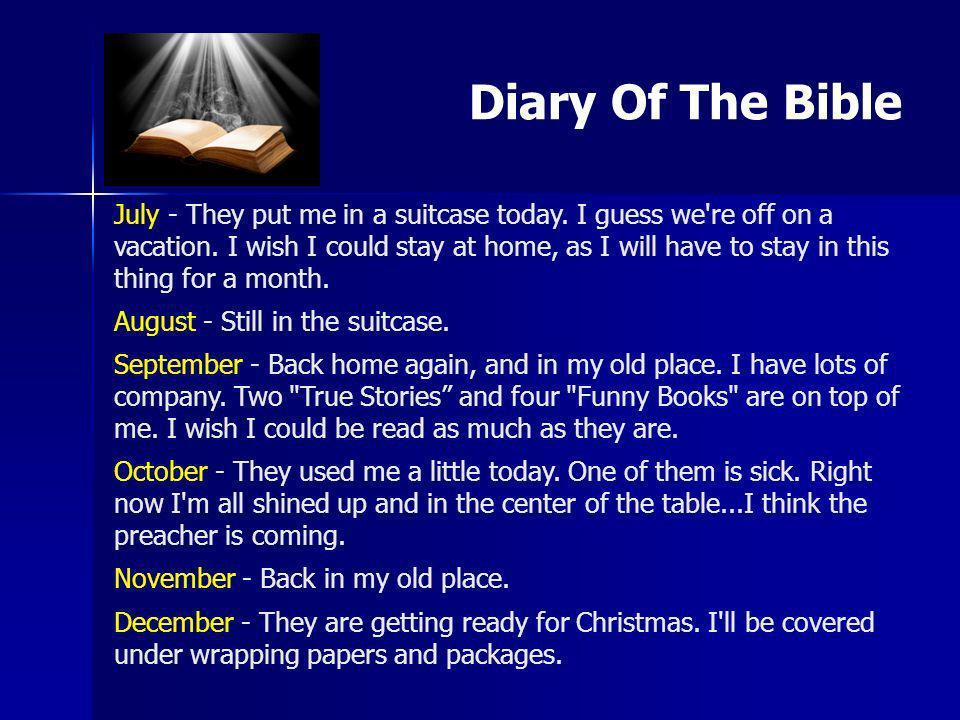 Diary Of The Bible