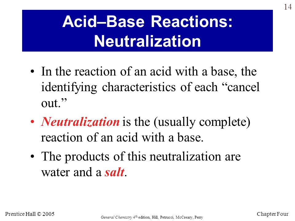 Acid–Base Reactions: Neutralization
