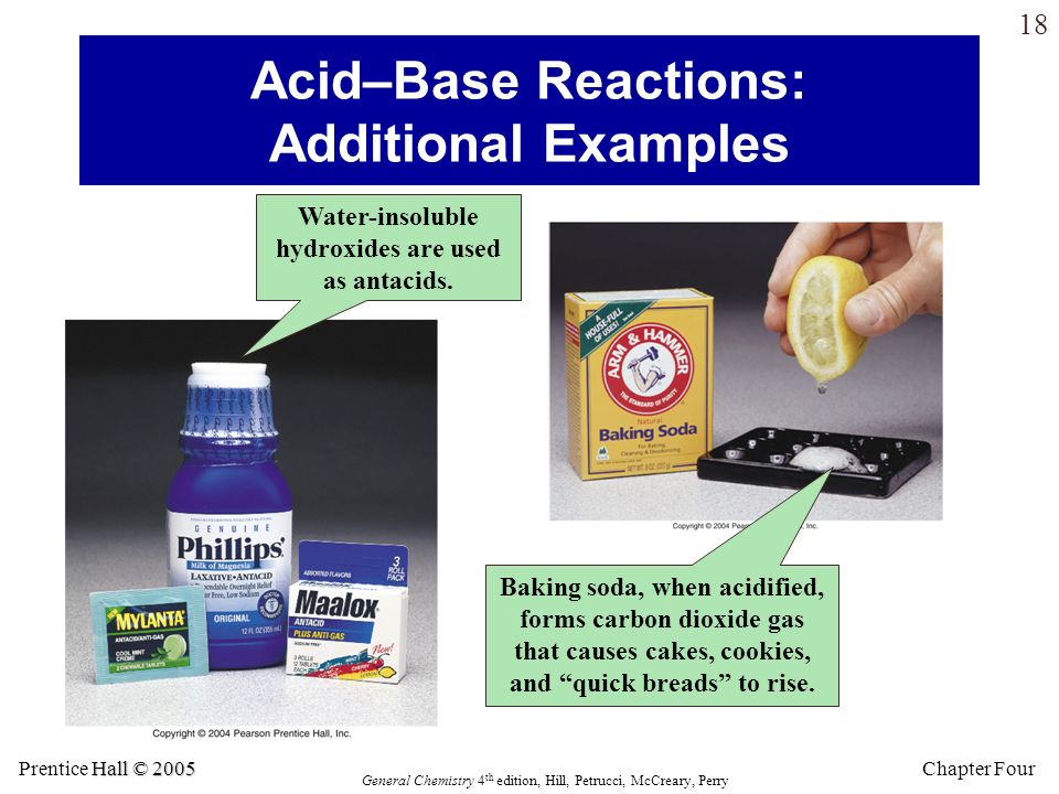 Acid–Base Reactions: Additional Examples
