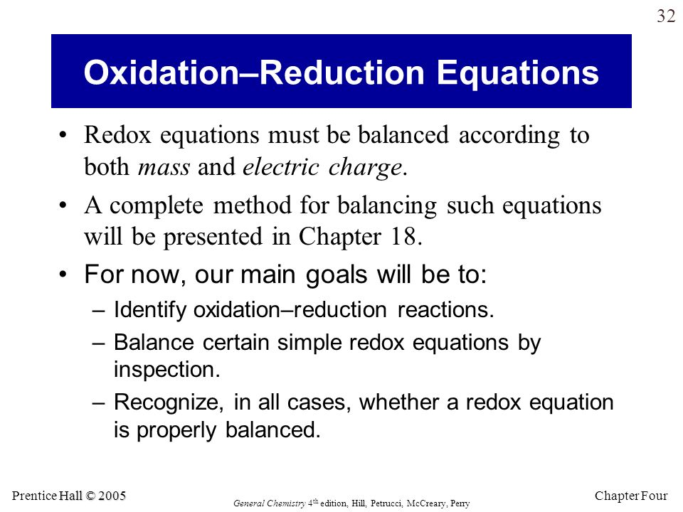 Oxidation–Reduction Equations