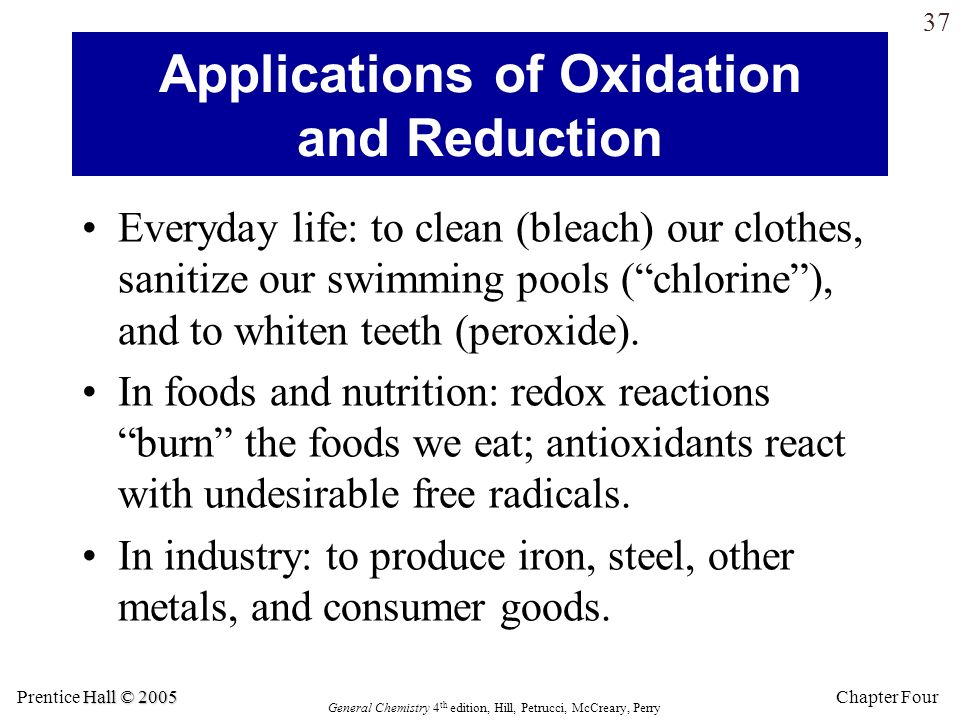 Applications of Oxidation and Reduction