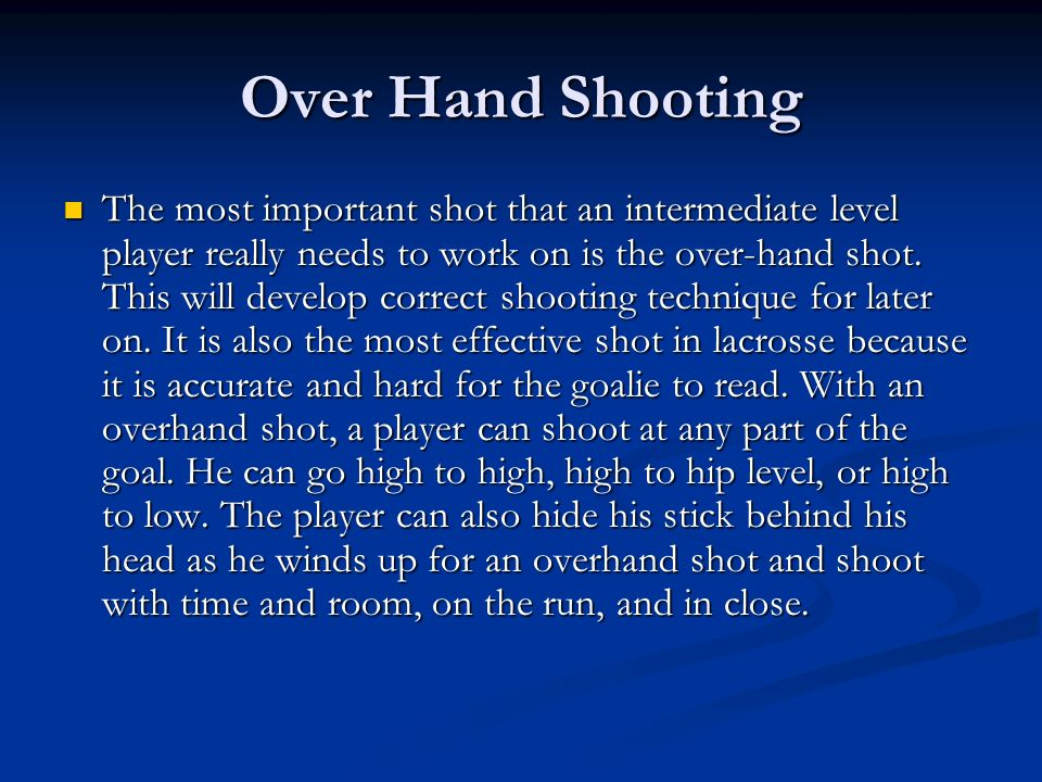 Over Hand Shooting