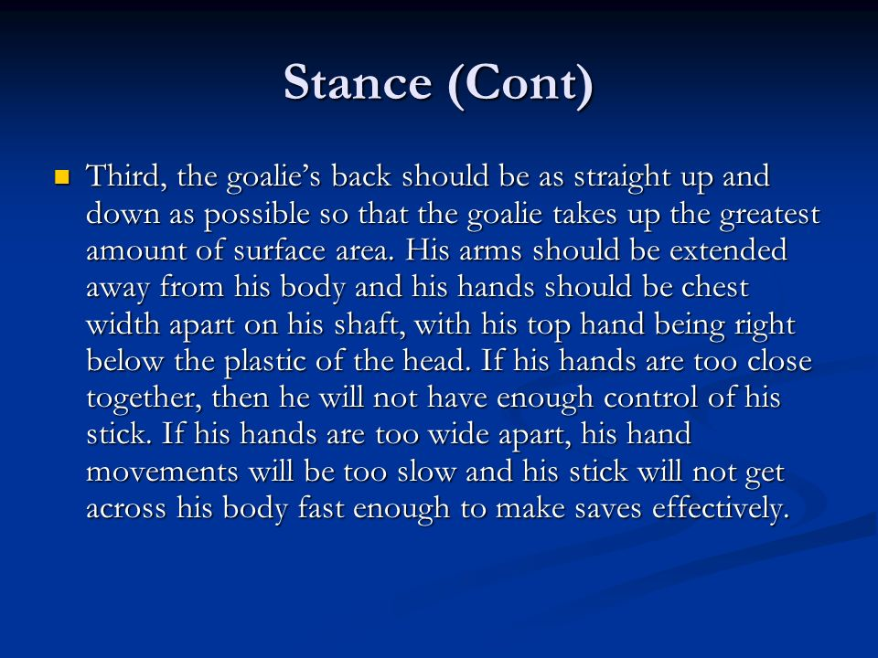 Stance (Cont)