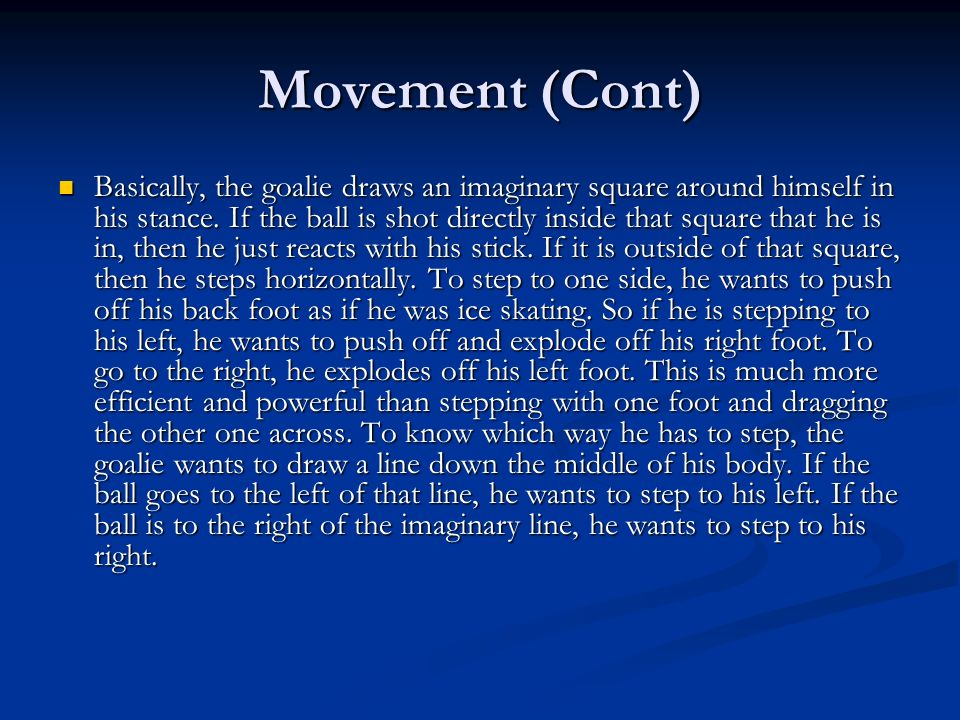Movement (Cont)