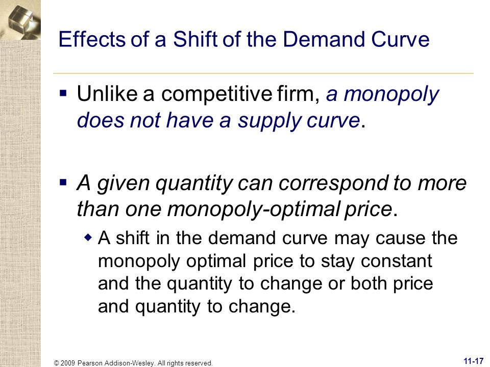 Effects of a Shift of the Demand Curve