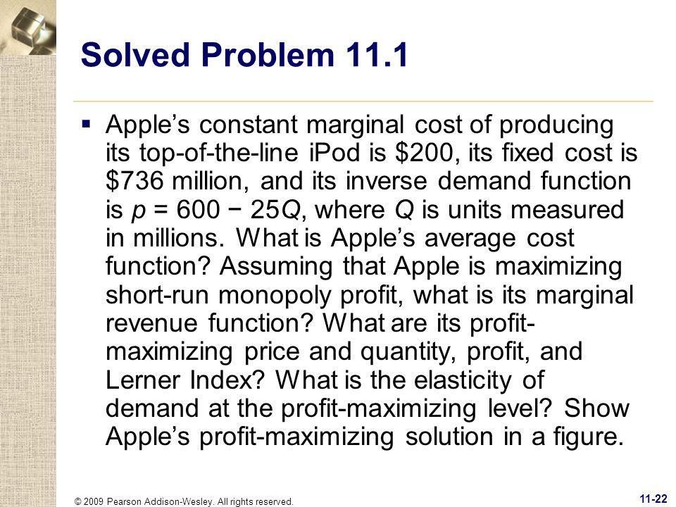 Solved Problem 11.1