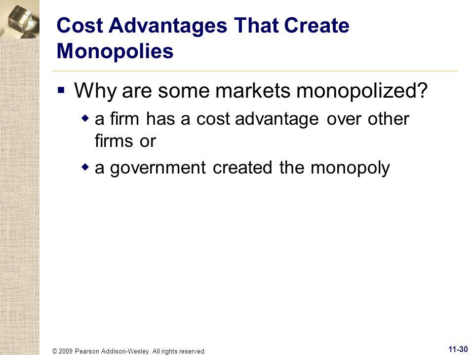 Cost Advantages That Create Monopolies