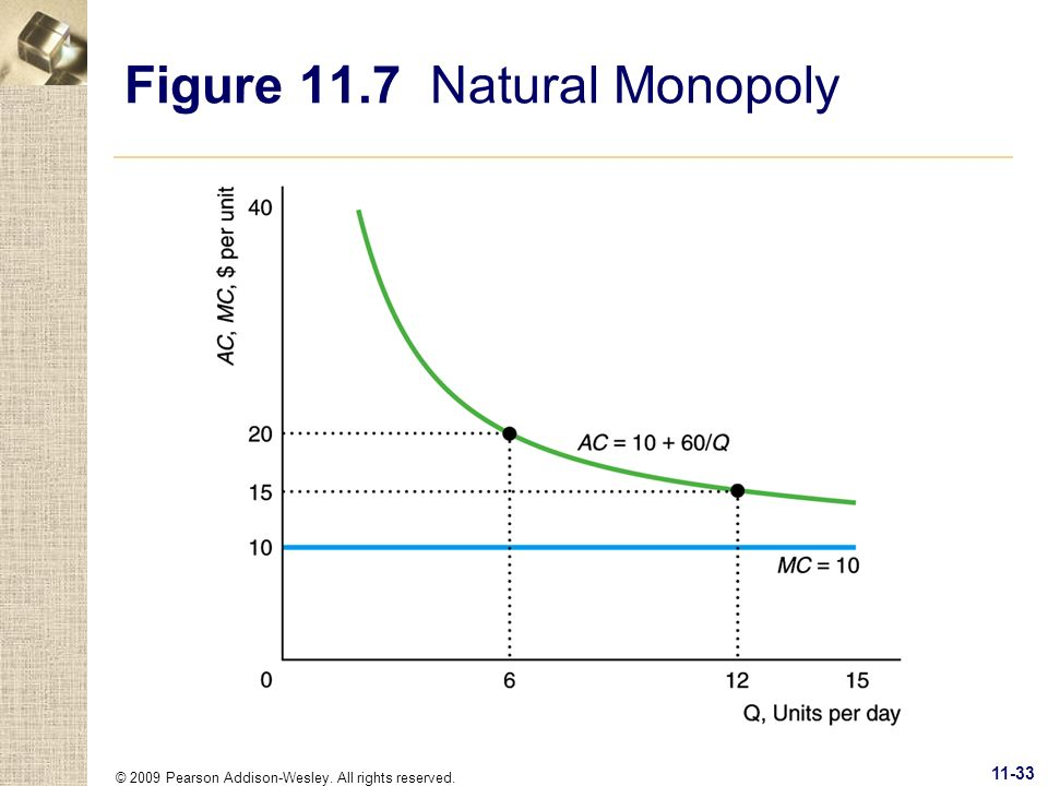 Figure 11.7 Natural Monopoly